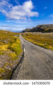 Abandoned Single Lane Road At Applecross Pass In Scotland
