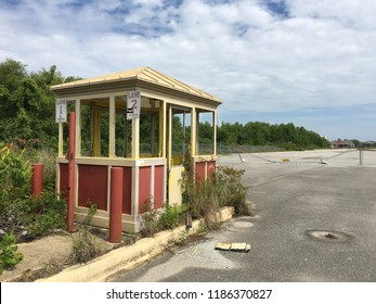 ABANDONED SIX FLAGS - NEW ORLEANS - May 17, 2016 - This now abandoned park was destroyed by Hurricane Katrina during its path of destruction from Aug 23-31, 2005
