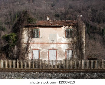 Abandoned Station. This is the old little station where Giovanni Pascoli poet arrived to Barga