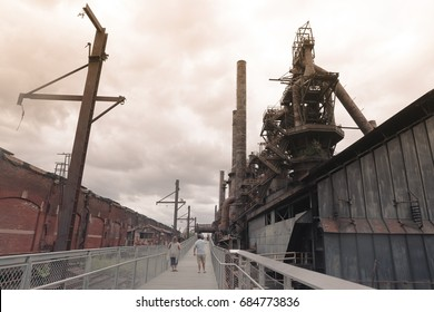 Abandoned steel plant Old Bethlehem Steel Plant in Bethlehem, Pennsylvania
