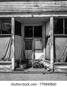 Abandoned Store Entrance