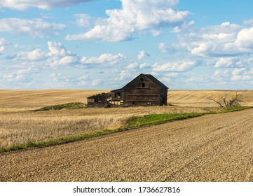 abandoned structure on farm land