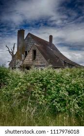Abandoned structures near Astoria, Oregon