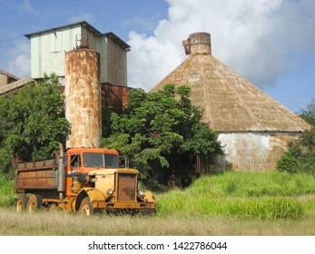 Abandoned sugar mill and old truck, Kauai, Hawaii