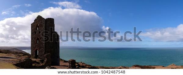 abandoned tin mine on the Cornish coast