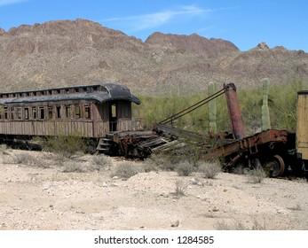 Abandoned Train in Arizona
