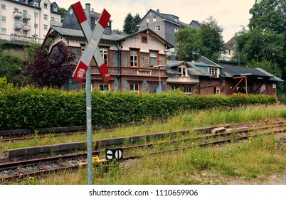 abandoned train station of Dahlerau in North Rhine-Westphalia, Germany.