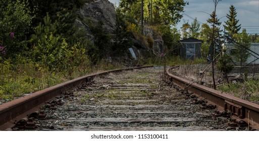 Abandoned train tracks