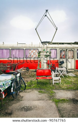 1d80f68d67a9d8 Abandoned Trams Homes Amsterdam Netherlands Stock Photo (Edit Now ...