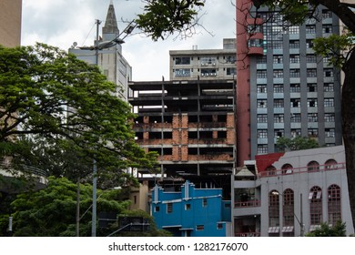 An abandoned unfinished building in belo horizonte city Belo Horizonte, Minas gerais, Brazil 01/11/2019