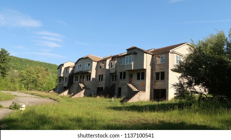Abandoned, unfinished condos that have since been demolished.