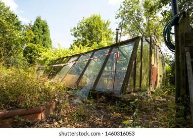 Abandoned unsafe green house image