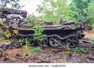 Abandoned vehicle used for cleaning operation after Chernobyl Nuclear Power Station disaster