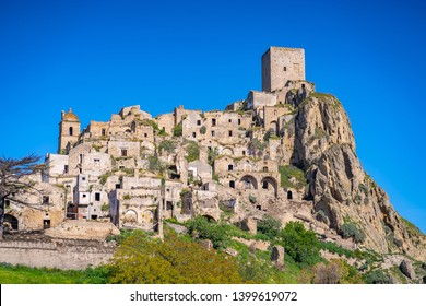 The abandoned village of Craco, Basilicata region, Italy.