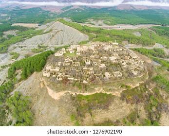 Abandoned village of Tiermas, Zaragoza, Aragon, Spain