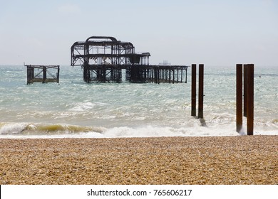 Abandoned West pier in Brighton