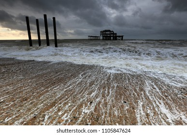 The abandoned West Pier at Brighton, Sussex