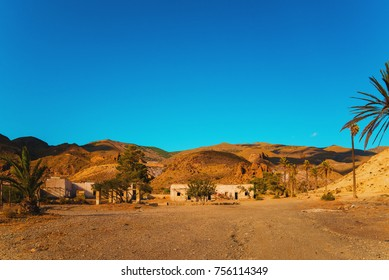 Abandoned western film location in Almeria, Spain