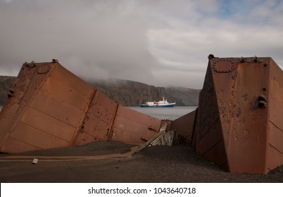 An abandoned whale oil container