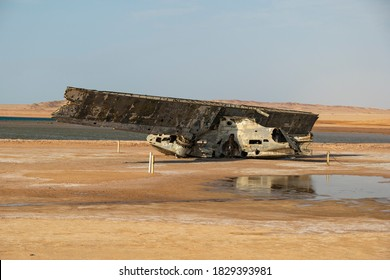Abandoned wreckage of a Catalina Seaplane near the Strait of Tiran on the Saudi Arabia side of the Gulf of Aqaba