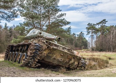 Abandoned ww tanks in Brander Wald, Eifel, Germany