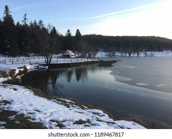 'Abant' lake in winter season/BOLU,TURKEY 26.12.2017