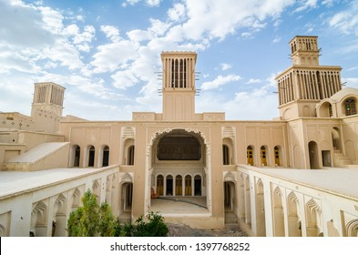 Abarkooh, Iran - May 18, 2017. Aghazadeh Mansion and its windcatcher was built during the Qajar Dynasty