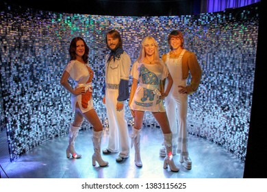 ABBA wax figures in Madame Tussauds museum in Berlin, Germany - 20/04/2019