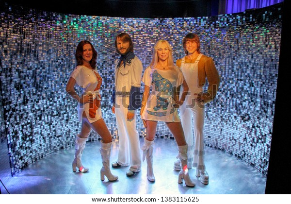 ABBA wax figures in Madame Tussauds museum in Berlin, Germany - 20/04/2019