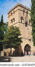 Abbatial tower in the town of Laguardia, Alava, Spain
