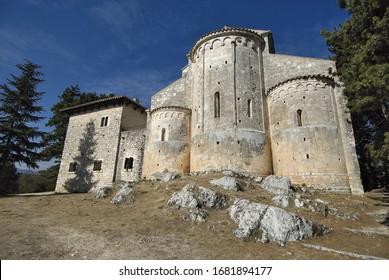 Abbey of Bominaco in Abruzzo Italy