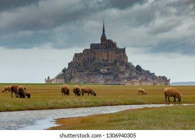 Abbey fortress Mont Saint Michel.