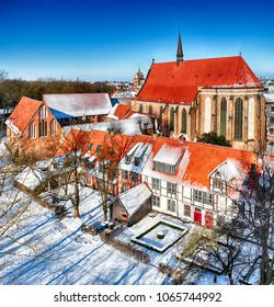 Abbey of the Holy Cross, Rostock (Germany) in winter times - HDR panoram