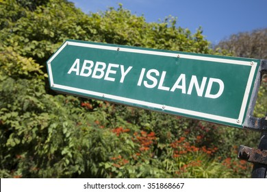 Abbey Island Sign, Derrymore Bay Beach; County Kerry; Ireland