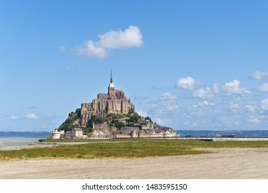 Abbey of Mont Saint Michel in a beautiful sunny day. Normandy, France