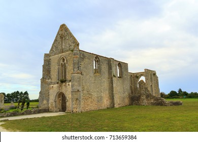 Abbey of the Châteliers, old ruined monastery on a French island of Il de Re