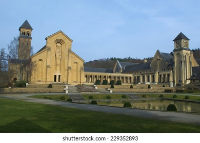 Abbey in Orval in belgium is famous for its trappist beer, botanical garden and ruins of former seat of monastery - nowadays accesible to tourists.