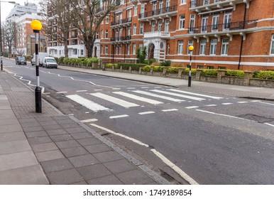 Abbey road crossroad, London, UK