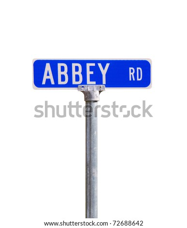 An Abbey road sign
