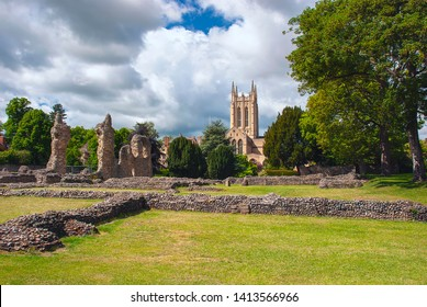 The Abbey Ruins in the heart of Bury St Edmunds, Suffolk