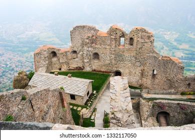 Abbey of Saint Michel of the Benedictine monks on Mount Pirchiriano near Turin