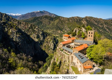 Abbey of Saint-Martin du Canigou in the French Pyrenees