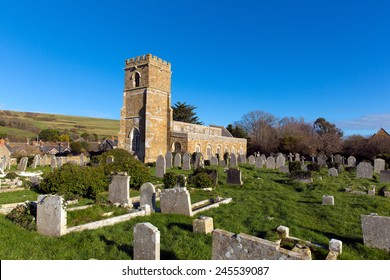Abbotsbury Church of St Nicholas Dorset UK in the village known for its swannery, subtropical gardens and historic stone buildings on the Jurassic Coast