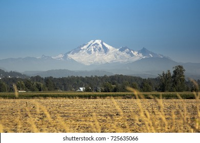 Abbotsford, BC Aug 22, 2017 - Mt Baker as seen from Abbotsfords BC