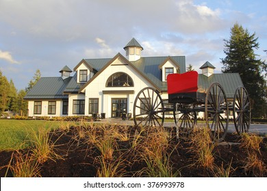 ABBOTSFORD, BC/CANADA â?? JANUARY 22, 2016: The Mennonite Historical Museum opened its doors to the public on January 22, 2016 in Abbotsford, British Columbia.