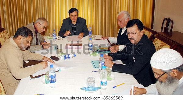 ABBOTTABAD, PAKISTAN - SEPT 29: Justice (Retd)Javed Iqbal presides over Abbottabad Commission on September 29, 2011. in Abbottabad.