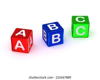 ABC alphabet. 3d