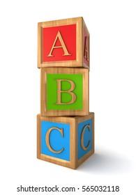 abc cubes (3d rendering)