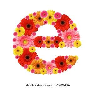 abc, flowers