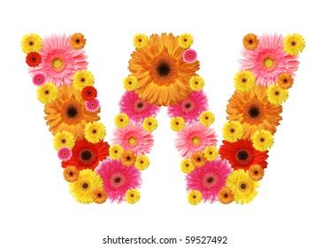 abc, flowers  alphabet